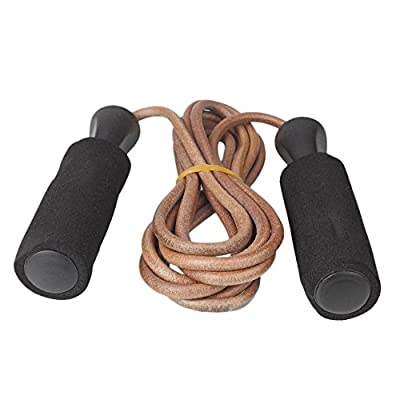 2.8m Bold Leather Speed Skipping Jump Rope For Gym Training Home Crossfit