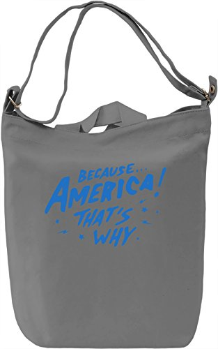 Because America! Borsa Giornaliera Canvas Canvas Day Bag| 100% Premium Cotton Canvas| DTG Printing|