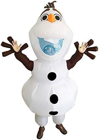 Adult Olaf Mascot Costume Fancy Dress Halloween Cosplay-Best Quality