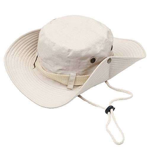 ChukDan Outdoor Wide Brim Breathable Packable Boonie Hat for Men/Women, Sun Hat Cap UV Protection Perfect for Camping Fishing Gardening Hiking Travelling -