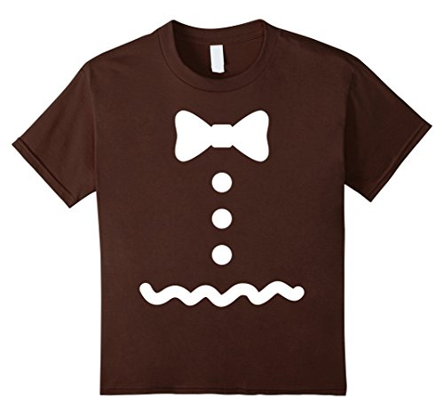 Gingerbread Man Costumes Child (Kids Gingerbread Man Costume T Shirt 12 Brown)