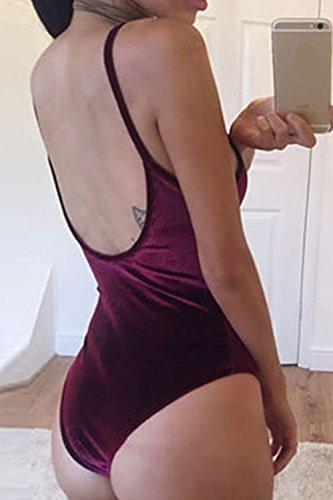 Da Rose Sexy Donne Velluto Le Tuta In Stretto Bikini OCvnTqw7