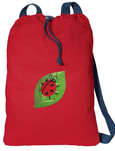 - Ladybugs Drawstring Backpack CANVAS Ladybug Cinch Pack