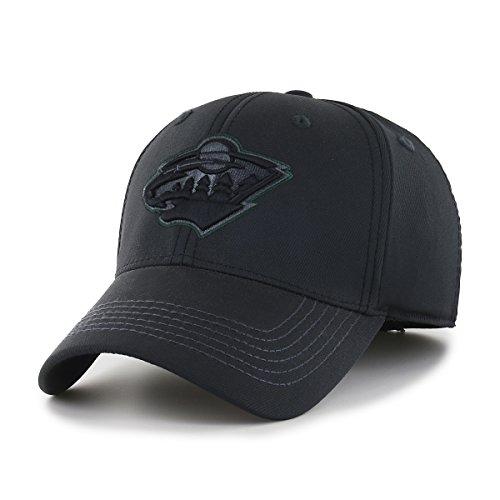 OTS NHL Minnesota Wild Wilder Center Stretch Fit Hat, Black, Large/X-Large