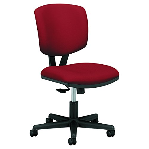 HON Volt Task Chair - Armless Office Chair for Computer Desk, Crimson (H5703)
