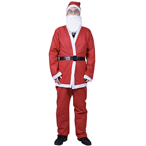 EraSpooky Men's Santa Claus Costume Father Christmas Fancy Dress Budget Outfit Suit ()