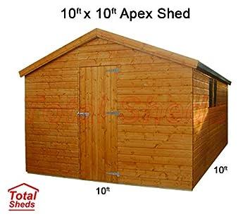 10 FT (3.0 m) X 10 ft (3.0 m) cobertizo cobertizo caseta de jardín caseta de madera total cobertizos: Amazon.es: Jardín