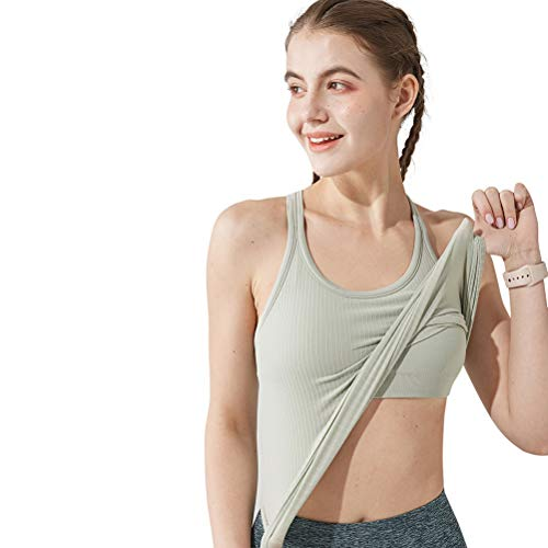 Yoga Racerback Tank Top for Women with Built in Bra,Women's Padded Sports Bra Fitness Workout Running Shirts
