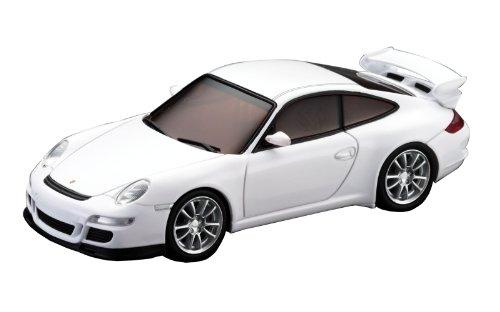 Kyosho - D1431030102 - Radio Commande, Vhicule Miniature - Voiture pour Circuit Routier - DSLOT43 Porsche 911 GT3 - 1:43 me - Blanc
