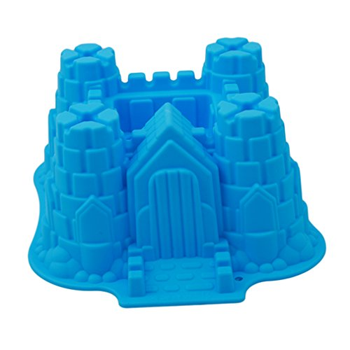 SONG LIN 3D Castle Bundt Cake Pan Fondant Mold Silicone Chocolate Candy Soap Mold Cake Decorating Tool