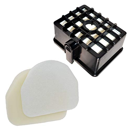 Kit 480 - HQRP Filter Kit Works with Shark Rotator NV450 NV451 / Rocket NV472 NV480 NV480_26 NV481 NV482 NV484 Professional Upright Vacuum Cleaner, XHF450 XFF450 Replacement (Short Size 2.36