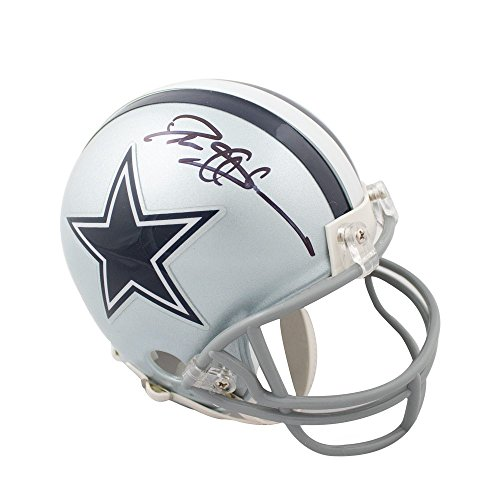 Deion Sanders Autographed Dallas Cowboys Mini Football Helmet - JSA COA (B)