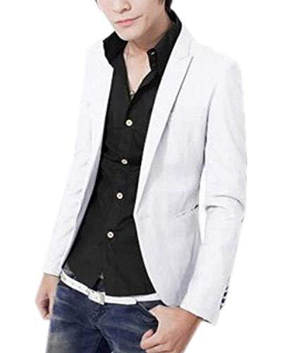 Blazer Slim Costume Fit Et Hommes Business Essentiel Mariage Blanc Tuxedo Everyday SXqBa