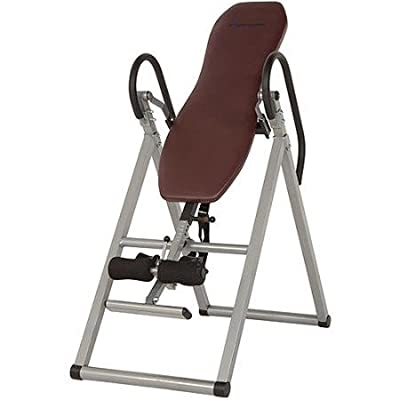 Exerpeutic Stretch 300 Inversion Table Has a Foam Vinyl Covered Backrest for a Comfortable Head and Back When Inverting.