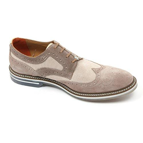 C2278 scarpa inglese uomo BRIMARTS scarpe beige fondo gomma shoe man [45]