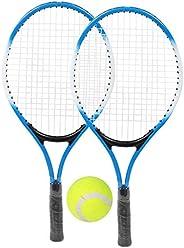 Kids Tennis Racket Children's Tennis Set Tennis Playset Incudes Bag and Balls for Boys G