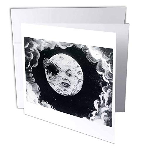 3dRose A Trip to the Moon 1902 - Greeting Cards, 6 x 6 inches, set of 6 (gc_6812_1)