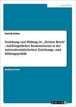 """Book Erziehung und Bildung im """"Dritten Reich"""