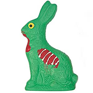 Zombie Chocolate Easter Bunny - Unique Easter Gift, Easter Basket Stuffer, Gourmet Hand-Crafted Small Batches - Made in USA– 1 Large White Chocolate Bunny Solid - ½ Pound Each