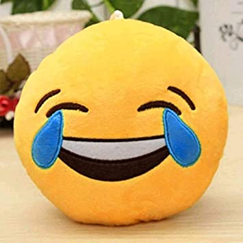 Preeti Textiles Toys Smiley Thick Plush Pillow Round Cushion Pillow Stuffed /Gift for Kids/for Birthday Gift/Room Decoration - , Yellow