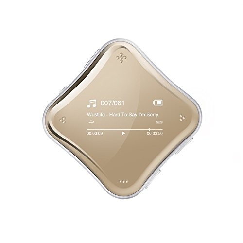 AGPTEK A125 8GB Mirror MP3 Player with FM Radio/Recording, Vacuum Plating Casing, Champagne Gold by AGPTEK