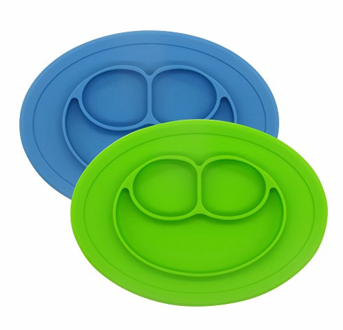 2Packs Silicone Feeding Plate Toddler