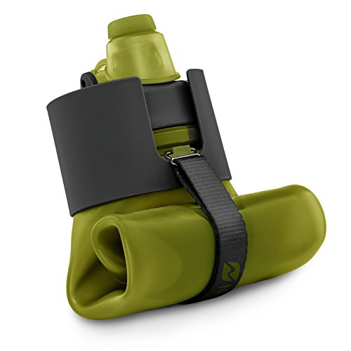 Nomader BPA Free Collapsible Sports Water Bottle - Foldable with Reusable Leak Proof Twist Cap for Gym Travel Hiking Camping and Outdoors - 22 oz (Army Green)