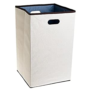 Rubbermaid Configurations 23-Inch Foldable Laundry Hamper, Natural,