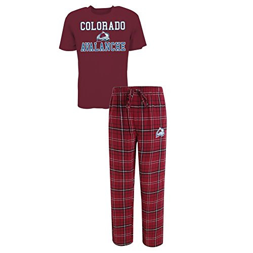 Concepts Sport Men's Colorado Avalanche Pajama Pants and T-Shirt Sleepwear Set (X-Large) (Avalanche Hockey Pants)