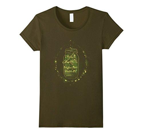 Womens Clever Fireflies in a Jar T-Shirt - Green/Yellow S...