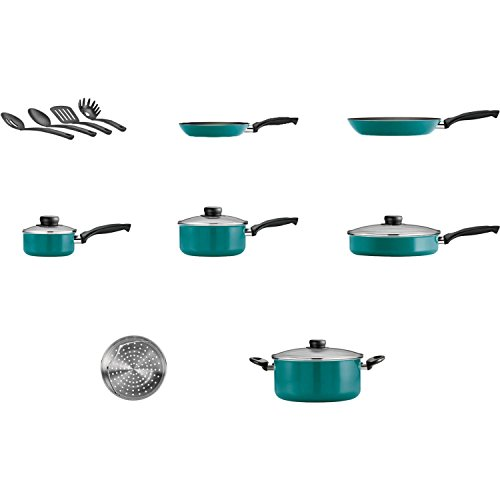 15-Piece Blue Teflon Coated Heat and Shatter Resistant Nonstick Cookware Set by Tramontina USA, Inc. (Image #2)