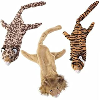 Ethical Plush Skinneeez Jungle Cat Assorted 25-Inch Stuffingless Dog Toy - 1 Pack