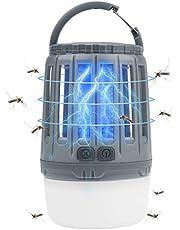Camping Laterne Insektenvernichter, 2 in 1 Regendicht Bug Zapper Zeltlicht USB wiederaufladbare Mückenlampe für Indoor & Outdoor Camping, Reisen, Wandern, Notfälle
