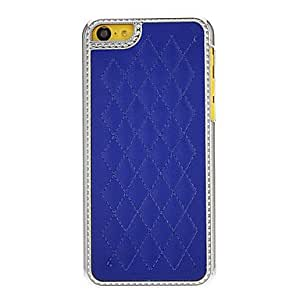 Solid Color Grid Pattern Protective Hard Case for iPhone 5C (Assorted Colors) , Navy