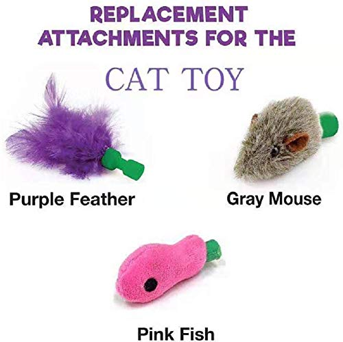 3XI Cat Toy Rechargeable,Best Gift for Cat,Mouse Tease Electronic Pet Toys, Cat Kitten Automatic Spinning Chase Toy,Automatic Interactive Motion Cat Toy 2