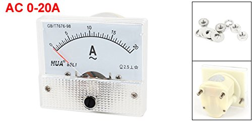 uxcell AC 0-20A Rectangle Analog Current Panel Ammeter Gaugeere Meter