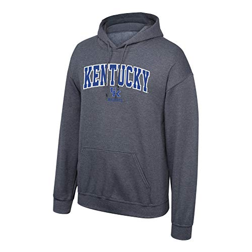 Elite Fan Shop NCAA Men's Kentucky Wildcats Hoodie Sweatshirt Dark Heather Arch Kentucky Wildcats Dark Heather Small