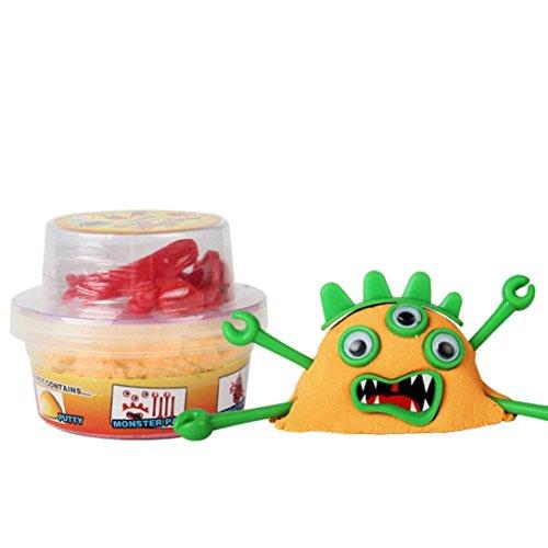Livoty HOT Toy Space Mud Hand Pinch Mud Children's Educational Toys (Orange)