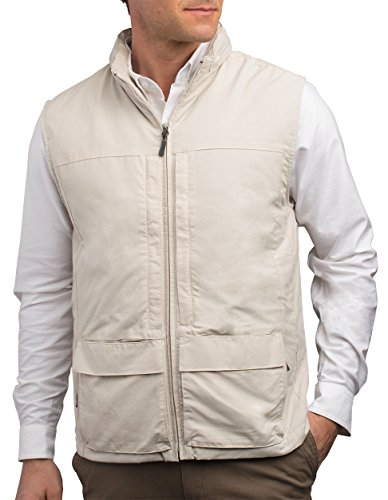 Quest Mens Travel Vest - Work Vest, Photography Vest, Utility Vest 42 Pockets