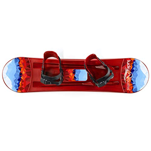 Lucky Bums Kids Beginner Plastic Snowboard, Multiple Colors