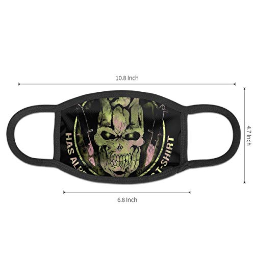 Luckyoung JoJo's Bizarre Adventure Killer Queen Unisex Adjustable Mouth Mask Fashion Mask Cover Reusable Dust Mask Anti-Bacter Sanitary Mask Black