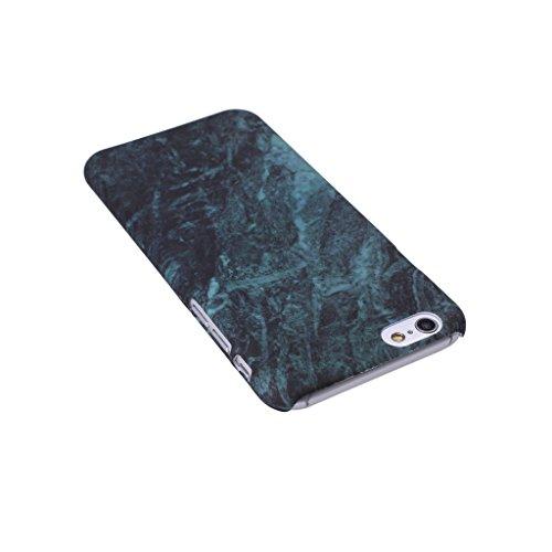 iPhone 6 / 6S Carcasa Cover, IJIA Ultrafino Corea Diseño Natural Mármol Negro PC Plástico Duro Funda Carcasa Tapa Caso Parachoques Cubierta para Apple iPhone 6 / 6S 4.7 + 24K Etiqueta Engomada color-HD4