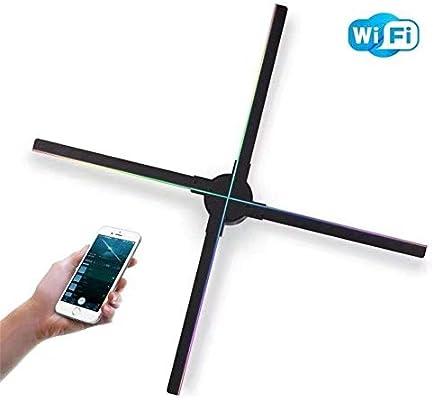 WZHESS Ventilador holográfico 3D portátil de 65 cm, máquina de ...