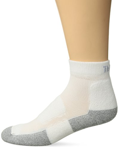 Thorlos Unisex GMX Golf Padded Ankle Sock, White, Large