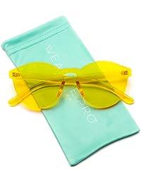 Colorful Transparent Round Super Retro Sunglasses