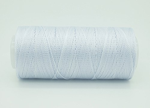 SKY BLUE 0.6mm 100% Nylon Twisted Cord Thread Micro Macrame Beading Knitting Crochet Needle Crafts (300yards Tube)