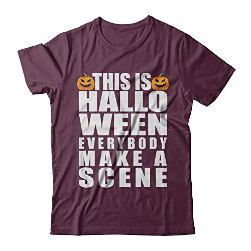 This is Halloween Everybody Make A Scene Costume Funny Pumpkin Face Gildan - Short Sleeve T-Shirt Maroon 3XL