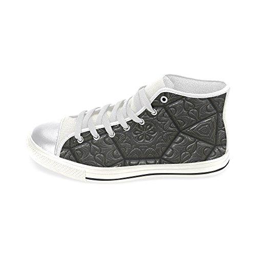 D-story Custom Vintage Art Tile Womens Classic High Top Scarpe Di Tela Moda Sneaker