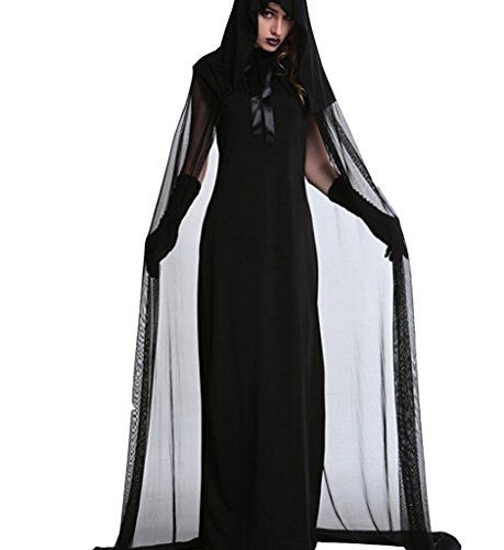 Eternatastic Women's Halloween Hood Costume Dark Sorceress The Haunted Costume L ()