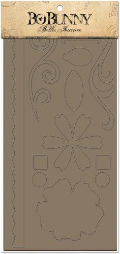 Bo Bunny Bella Journee Bare Naked Die-Cut Chipboard Sheets, BJ2 Flowers & (Scroll Chipboard)
